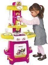 Kuchynky pre deti sety - Set kuchynka Máša a medveď Smoby hlboký kočík pre bábiku (58 cm rúčka) a bábika so šatôčkami od 18 mes_0