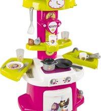 Kuchynky pre deti sety - Set kuchynka Máša a medveď Smoby hlboký kočík pre bábiku (58 cm rúčka) a bábika so šatôčkami od 18 mes_6