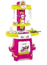 Kuchynky pre deti sety - Set kuchynka Máša a medveď Smoby hlboký kočík pre bábiku (58 cm rúčka) a bábika so šatôčkami od 18 mes_4