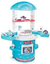 Gyerek játékkonyha Frozen Ma Premier Smoby szárnyakkal és 17 kiegészítővel 18 hónapos kortól kék-rózsaszín