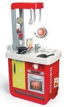 Játékkonyha Bon Appetit Red&Green Smoby elektronikus kávéfőzővel, hanggal, fénnyel és 23 kiegészítővel piros