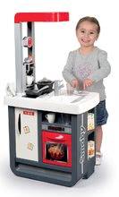Kuchynka pre deti Gourmande Smoby strieborno-šedá s chladničkou a kávovarom+23 doplnkov (bez zvuku, prac.doska 49 cm) 53*34*9