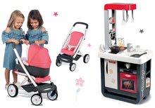 Set bucătărie de jucărie Gourmande cu frigider şi cafetieră Smoby gri şi cărucior adânc-sport Trio Pastel Maxi Cosi & Quinny SM310817-5