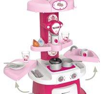 Staré položky - Set kuchynka Máša a medveď Smoby s kávovarom, športový kočík pre bábiku (55 cm rúčka) a bábika so šatôčkami_4