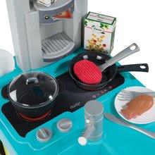 Elektronické kuchynky - Kuchynka Cherry Smoby elektronická so zvukmi, s jedálenským pultom, kávovarom a 25 doplnkami tyrkysovo-zelená_1