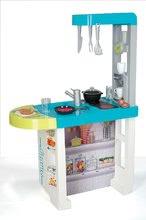 Elektronické kuchynky - Kuchynka Cherry Smoby elektronická so zvukmi, s jedálenským pultom, kávovarom a 25 doplnkami tyrkysovo-zelená_2