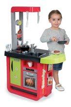 Elektronické kuchynky - Kuchynka Cherry Special Smoby elektronická so zvukmi, s jedálňou, kávovarom a 25 doplnkami červeno-zelená_1