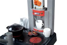 Elektronické kuchynky - Kuchynka Cherry Special Smoby elektronická so zvukmi, s jedálňou, kávovarom a 25 doplnkami červeno-zelená_3