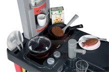 Elektronické kuchynky - Kuchynka Cherry Special Smoby elektronická so zvukmi, s jedálňou, kávovarom a 25 doplnkami červeno-zelená_4