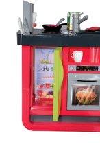 Elektronické kuchynky - Kuchynka Cherry Special Smoby elektronická so zvukmi, s jedálňou, kávovarom a 25 doplnkami červeno-zelená_5