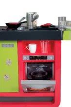 Elektronické kuchynky - Kuchynka Cherry Special Smoby elektronická so zvukmi, s jedálňou, kávovarom a 25 doplnkami červeno-zelená_6