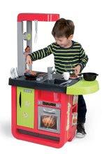 Elektronické kuchynky - Kuchynka Cherry Special Smoby elektronická so zvukmi, s jedálňou, kávovarom a 25 doplnkami červeno-zelená_7