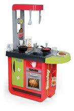 Elektronické kuchynky - Kuchynka Cherry Special Smoby elektronická so zvukmi, s jedálňou, kávovarom a 25 doplnkami červeno-zelená_8