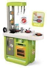 Kuchynka elektronická Cherry Smoby kiwi, zvuková s jedálenským pultom, magickými potravinami a 25 doplnkov