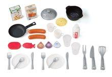 Kuchynky pre deti sety - Set kuchynka Tefal Studio Barbecue Smoby so zvukmi a grilom a obchod Supermarket s pokladňou_14