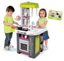 Kuchynky pre deti sety - Set kuchynka Tefal Studio Barbecue Smoby so zvukmi a grilom a obchod Supermarket s pokladňou_15