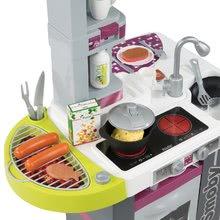 Kuchynky pre deti sety - Set kuchynka Tefal Studio Barbecue Smoby so zvukmi a grilom a obchod Supermarket s pokladňou_1