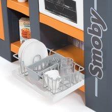 Elektronické kuchynky - Kuchynka Tefal Studio XL Smoby elektronická so zvukmi, s jedálňou a chladničkou s 36 doplnkami oranžovo-šedá_1