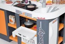 Elektronické kuchynky - Kuchynka Tefal Studio XL Smoby elektronická so zvukmi, s jedálňou a chladničkou s 36 doplnkami oranžovo-šedá_2