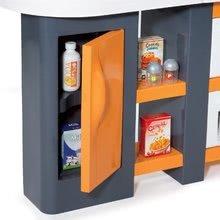 Elektronické kuchynky - Kuchynka Tefal Studio XL Smoby elektronická so zvukmi, s jedálňou a chladničkou s 36 doplnkami oranžovo-šedá_3