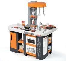 Elektronické kuchynky - Kuchynka Tefal Studio XL Smoby elektronická so zvukmi, s jedálňou a chladničkou s 36 doplnkami oranžovo-šedá_8