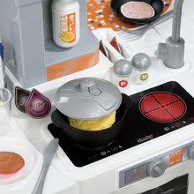 Elektronické kuchynky - Kuchynka Tefal Studio XL Smoby elektronická so zvukmi, s jedálňou a chladničkou s 36 doplnkami oranžovo-šedá_10
