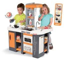 Elektronické kuchynky - Kuchynka Tefal Studio XL Smoby elektronická so zvukmi, s jedálňou a chladničkou s 36 doplnkami oranžovo-šedá_14