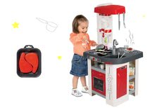 Set kuchyňka elektronická Tefal Studio Smoby červeno-bílá se sodou a plátky masa jako dárek
