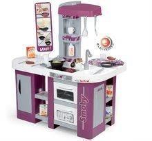Bucătărie Tefal Studio XL Smoby cu efecte sonore, cu loc de luat masă, cu frigider şi cu 36 de accesorii mov - argintiu