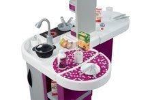 Kuchynky pre deti sety - Set kuchynka Tefal Studio XL Smoby s umývačkou riadu a chladničkou a sušička na riad Bubble Cook_5