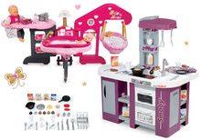Set kuchynka Tefal Studio XL Smoby s umývačkou riadu a chladničkou a opatrovateľské centrum pre bábiku