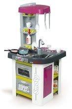 Játékkonyha Tefal Studio Bubble Smoby elektronikus mágikus bugyogással és szódakészítővel és 26 kiegészítővel lila-zöld