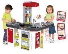 Kuchynka pre deti Tefal Studio XXL Smoby elektronická s magickým bublaním a ľadom s 38 doplnkami červeno-zelená