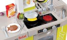 Hry na domácnosť - Set upratovací vozík Smoby s elektronickým vysávačom Rowenta a kuchynka Tefal so zvukmi_5