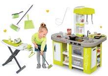 Smoby set detská kuchynka elektronická a upratovací set so žehliacou doskou a žehličkou 311024-4