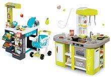 Smoby set kuchynka pre deti elektronická a supermarket s pokladňou 311024-6