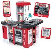 Gyerek játékkonyha elektronikus Tefal Studio XXL Smoby piros mágikus élelmiszerekkel és buborékozással, Cola jéggel+38 kiegészítővel 100 cm magas 86*8