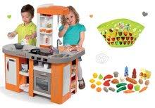 Kuchynky pre deti sety - Set kuchynka Tefal Studio XL Smoby so zvukmi a chladničkou a košík s riadom100% Chef_20