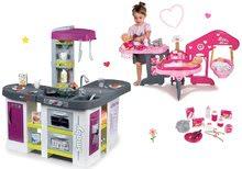 Set kuchynka elektronická Tefal Studio XXL Bubble Smoby s magickým bublaním a domček pre bábiku Baby Nurse Zlatá edícia SM311033-2