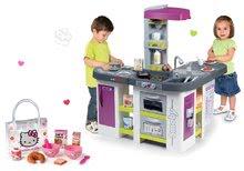 Set kuchynka elektronická Tefal Studio XXL Bubble Smoby s bublaním a Hello Kitty raňajkový set v taštičke ako DARČEK SM311033-5