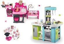 Set bucătărie de jucărie Tefal Studio XL Bubble Smoby electronică şi centru de bebe Baby Nurse Doll's Play Center