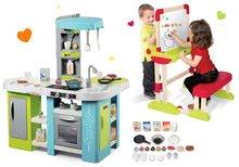 Set bucătărie Tefal Studio XL Bubble Smoby electronică cu barbotare şi bancă şcolară Modulo Space 2in1