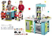 Szett elektronikus játékkonyha Tefal Studio XL Bubble Smoby bugyogással és vegyesáru közért Maxi Market SM311035-6