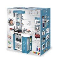 Kuchynky pre deti sety - Set kuchynka s technickým vybavením Tech Edition Smoby elektronická so stolom a dvoma stoličkami_30