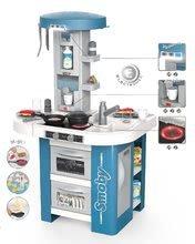 Kuchynky pre deti sety - Set kuchynka s technickým vybavením Tech Edition Smoby elektronická so stolom a dvoma stoličkami_1