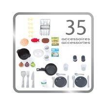 Kuchynky pre deti sety - Set kuchynka s technickým vybavením Tech Edition Smoby elektronická so stolom a dvoma stoličkami_7