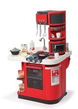 Elektronické kuchynky - Kuchynka CookMaster Smoby elektronická so zvukmi, s ľadom, opečenými potravinami a 36 doplnkami červená_1