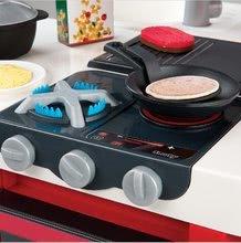 Elektronické kuchynky - Kuchynka CookMaster Smoby elektronická so zvukmi, s ľadom, opečenými potravinami a 36 doplnkami červená_2