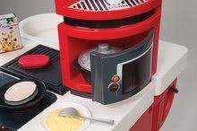 Elektronické kuchynky - Kuchynka CookMaster Smoby elektronická so zvukmi, s ľadom, opečenými potravinami a 36 doplnkami červená_4