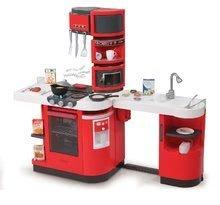 Elektronické kuchynky - Kuchynka CookMaster Smoby elektronická so zvukmi, s ľadom, opečenými potravinami a 36 doplnkami červená_6
